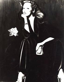 Lady Sitting With Rose by Anthony Masterjoseph