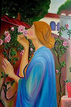 Xafira Mendonsa - Lady Smelling Roses