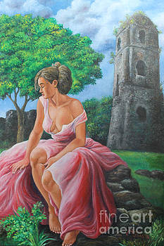 Lady Tourist in Bicol 2 by Manuel Cadag