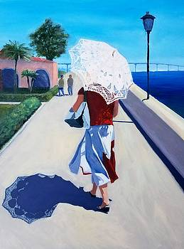 Lady with a Parasol by Karyn Robinson