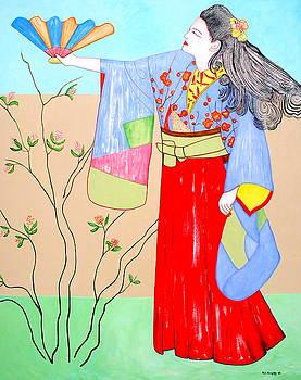 Lady With Fan by Kai Kingsley III