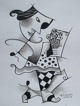 Lady with flower by Hermel Alejandre