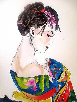 Lady with kimono by Sacha Grossel