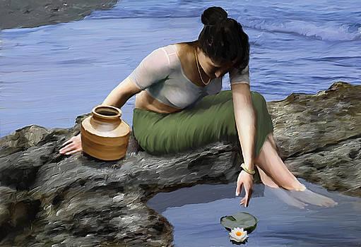 Lady with the pot by Shreeharsha Kulkarni