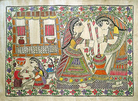 Lady Working by Yogesh Agrawal