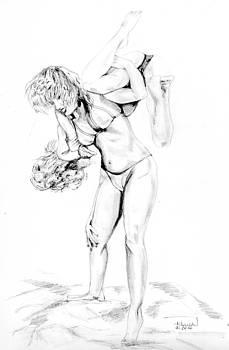 Lady Wrestling by Heidi Kunkel