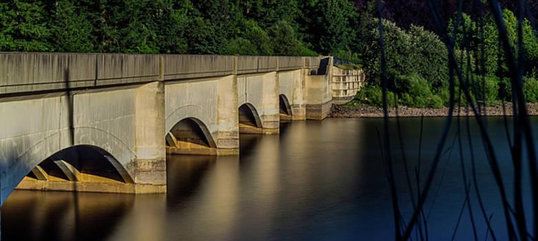 Ladybower Reservoir Reflecting Viaduct by Scott Lyons