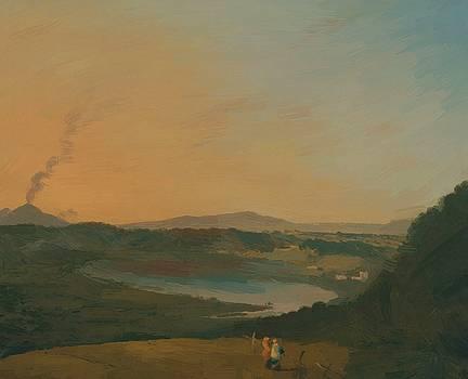 Wilson Richard - Lago D Agnano With Vesuvius In The Distance 1775