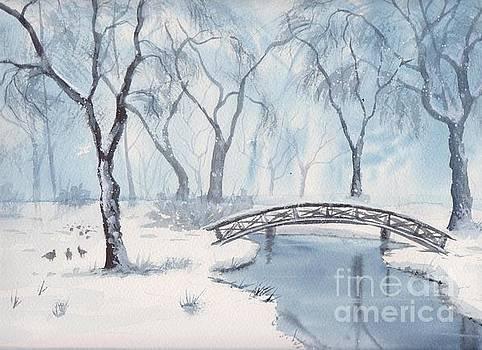 Lagoon Under Snow by Yohana Knobloch