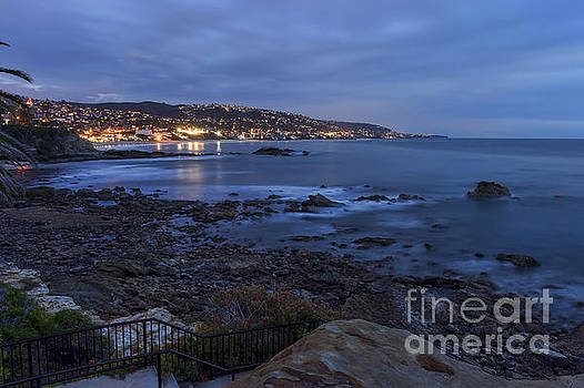 Laguna Beach At Twilight by Eddie Yerkish