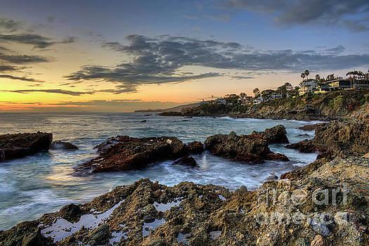 Laguna Beach Coastline by Eddie Yerkish