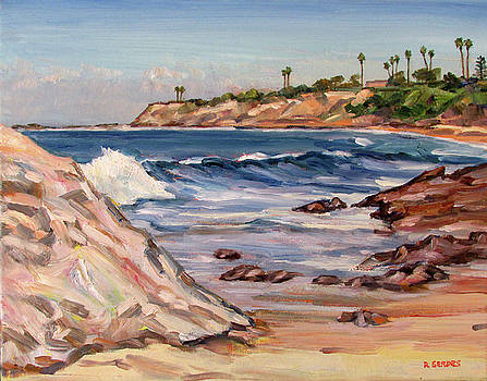 Laguna Beach Surf and Rocks by Robert Gerdes