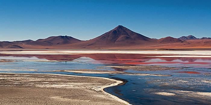 Laguna Colorada Reflections by Ron Dubin