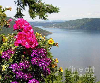 Lake and Flowers by Anne Gordon