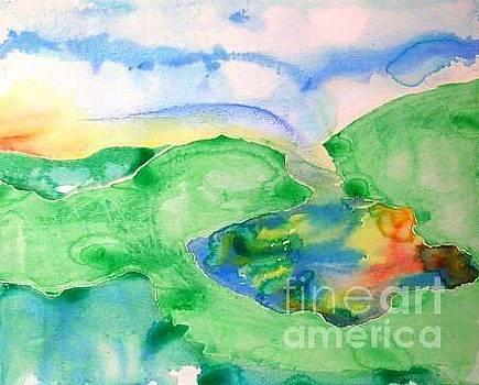 Lake at Sunset by Lynda Cookson
