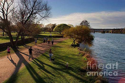 Herronstock Prints - Lake Austin hike and bike trail make a runners paradise in austin texas