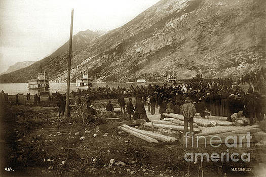 California Views Mr Pat Hathaway Archives - Lake Bennett with riveboats Klondike Gold Rush  July 6, 1899