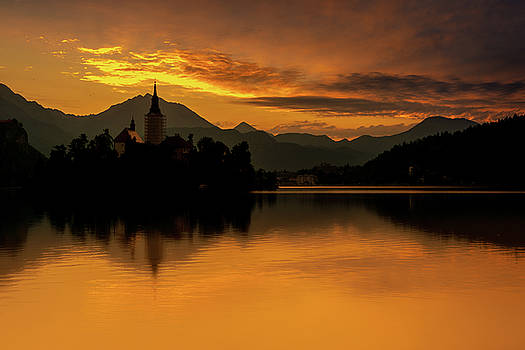 Lake Bled Fire by Andrew Matwijec