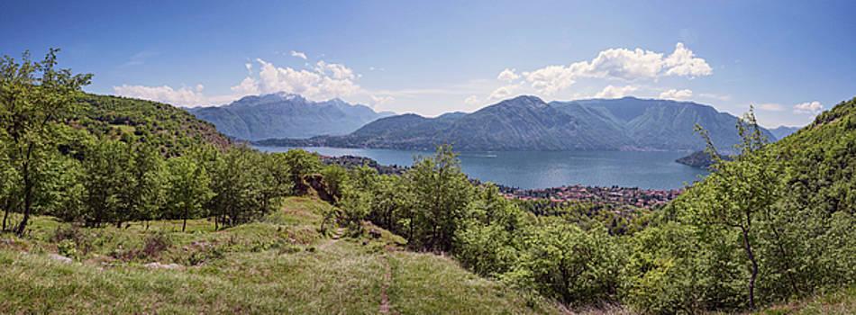 Lake Como Italy Panorama II by Joan Carroll
