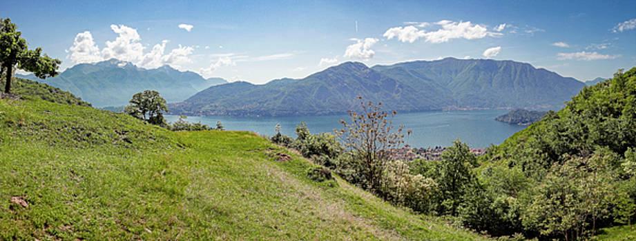 Lake Como Italy Panorama by Joan Carroll
