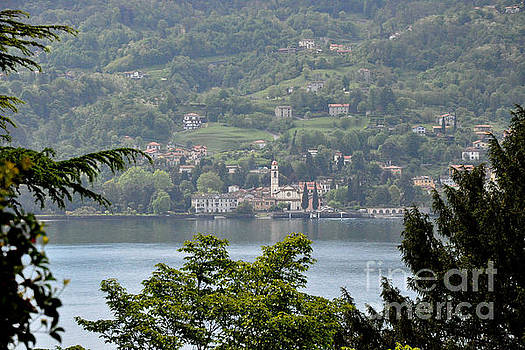 Lake Como View from Villa Carlotta Italy by Tanya Searcy