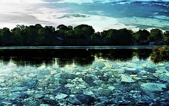 Lake Couchiching Stones by JGracey Stinson