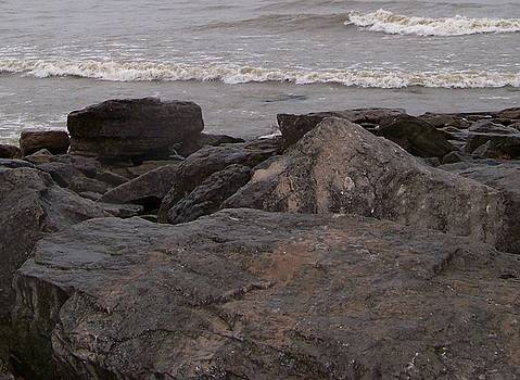 Lake Erie on The Rocks by Jackie Bodnar