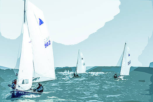 Lake Erie Racing by Michael Arend