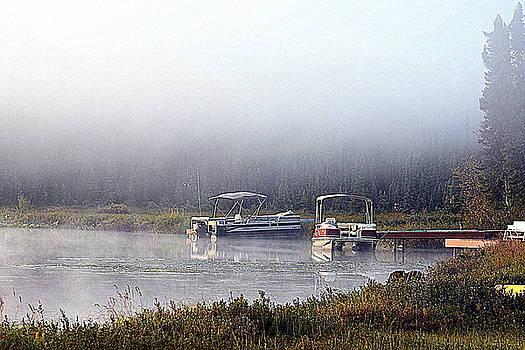 Lake Fog Lifting by Sherry McKellar