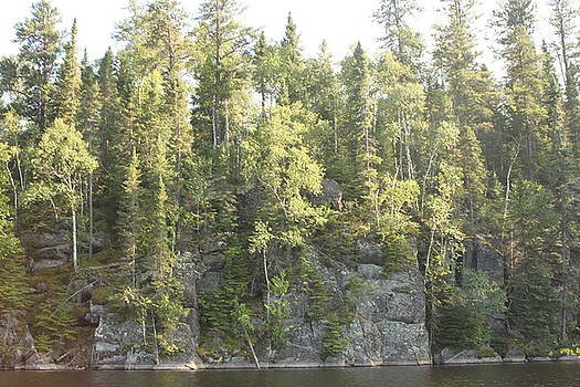 Lake Four in the Boundary Waters by Francoise Villibord Pointeau