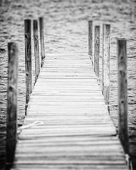 Lisa Russo - Lake George Dock in Black and White