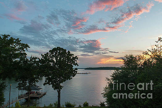 Lake Hartwell Sunset Still Waters by Dale Powell