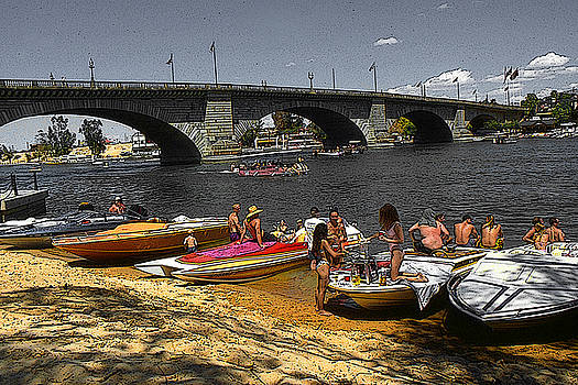 Lake Havasu Arizona - London Bridge by Art America Gallery Peter Potter