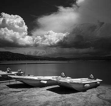 Lake Henshaw Beach and Boats by William Dunigan