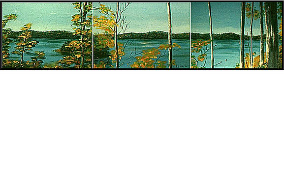Lake Hope Triptych by Frank Hunter