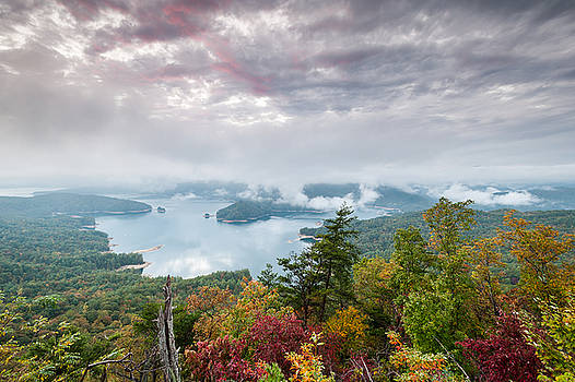 Lake Jocassee Clearing Storm Sunset by Mark VanDyke