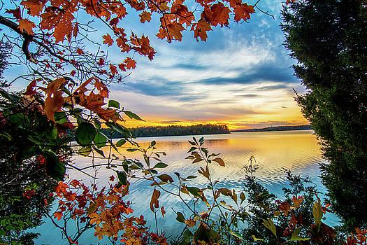 Randall Branham - lake leaf peeping sunset
