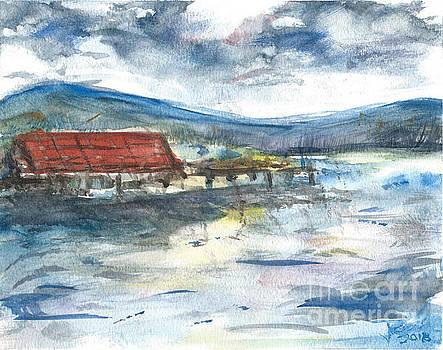 Lake Leatherwood Eureka Springs Boat Dock  by Reed Novotny