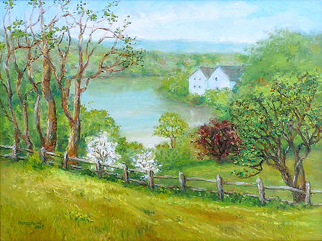 Lake Linganore in Spring New Market MD by Nancy Heindl