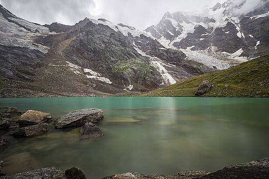 Lake Locce and Monte Rosa - Piedmont / Italy by Massimo Mazza