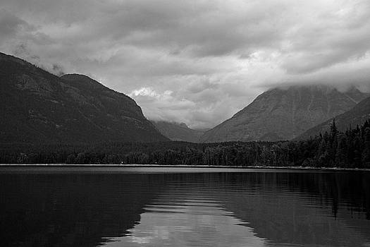 Lake McDonald Reflection Black and White by Bruce Gourley