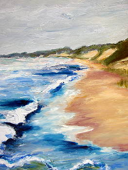 Michelle Calkins - Lake Michigan Beach with Whitecaps Detail