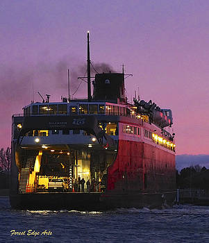 Lake Michigan Carferry by Dick Bourgault