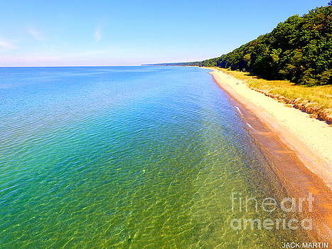 Lake Michigan Serenity of West Michigan by Jack Martin