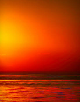 Lake Michigan Sunset Abstract by Laura Greene