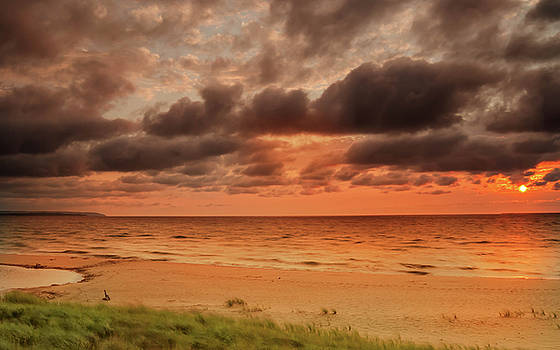 Lake Michigan Sunset by Thomas Pettengill