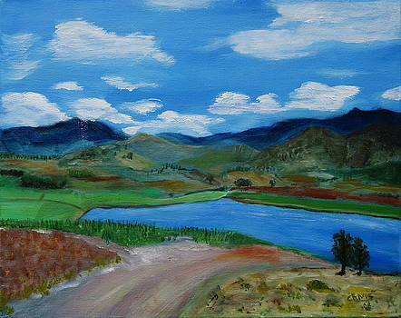 Lake near Ejutla by Sylvia Riggs