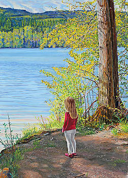 Lake Padden- Memorial Bench of Jerry Pressler by Nick Payne
