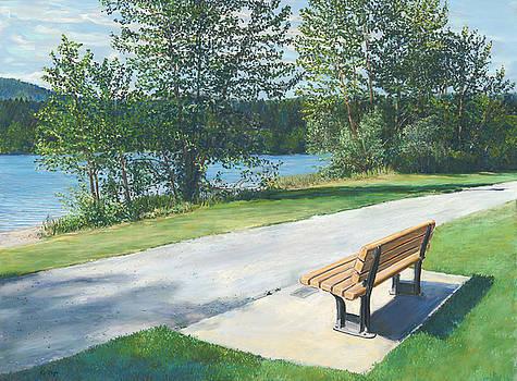Lake Padden Series - Memorial Bench of Andrew Phillip Jones by Nick Payne