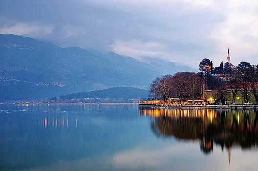 Lake Pamvotida and the Fethiye Mosque by Fabrizio Troiani